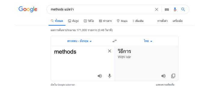 การหาความหมายของภาษาต่างๆ
